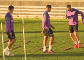 Modric y Marcelo trabajaron con el resto del grupo