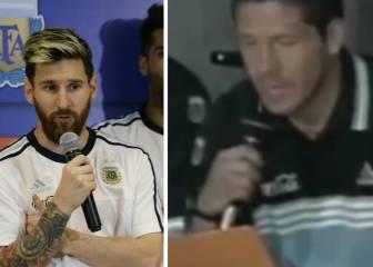 Messi hizo lo mismo que Simeone en 1998 ante la prensa