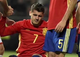 Morata se lesiona: se pierde el derbi y estará un mes de baja