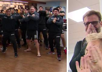 The Kiwis give Klopp the haka
