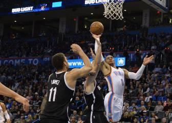 Westbrook suma otro triple doble ante los Brooklyn Nets