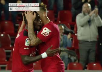El Mallorca salva un punto y el Sevilla Atlético terminó con 10