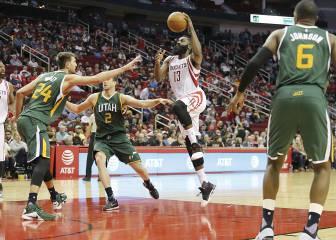 Los Rockets bailan sobre los Jazz al ritmo de Harden