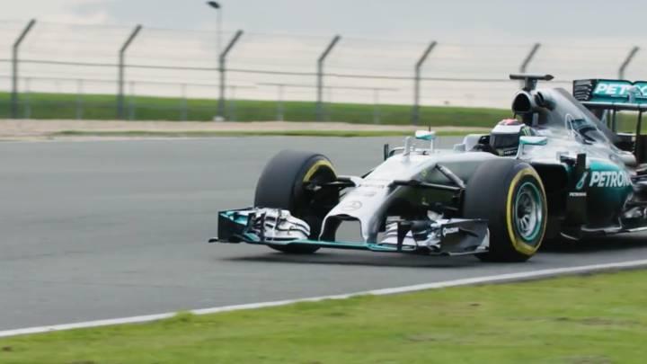 Jorge Lorenzo al volante de un Mercedes de F1: impresionante