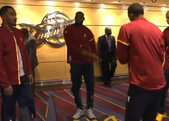 El baile talismán de LeBron y sus Cleveland Cavaliers