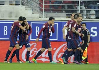 El Eibar sigue de dulce y alcanza al Atleti en la tabla
