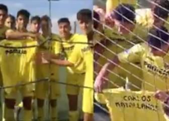 La dedicatoria del Villarreal cadete a Carlos Matallanas