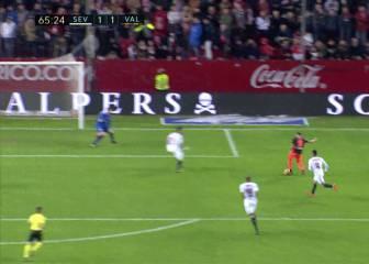 El golazo de Munir en Sevilla: ¡qué definición con el exterior!