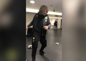 ¡Vaya bailecito se marcó David Luiz en el vestuario!