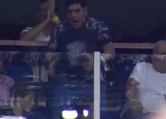 Éxtasis total de Maradona con el triunfo de Delpo: qué locura