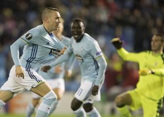 Iago Aspas va sobrado: gol y pase de crack en el segundo