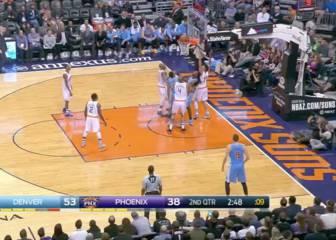 Los Nuggets ganan a pesar del arreón final de los Suns