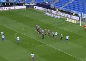 La espectacular falta de Sandro ante el Deportivo