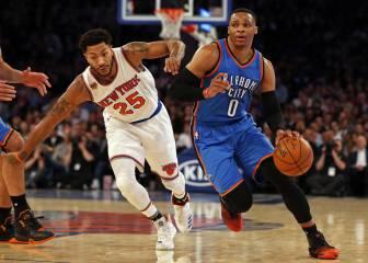 Oklahoma gana a los Knicks con un Westbrook de récord