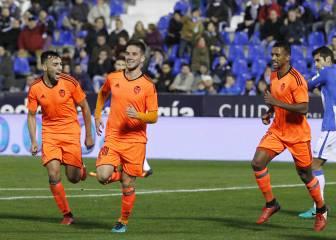 El Valencia se toma en serio la Copa y enfría al Leganés