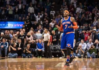 Si se acaba el partido dásela a Carmelo: ¡otro game-winner!