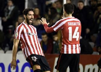 El Athletic vence al Racing con doblete de Raúl García