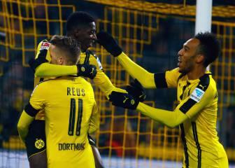 El Dortmund remonta y le hace cuatro goles al Gladbach