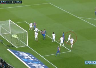 Insólita reacción de Cristiano en el gol del Barça: ¡no se giró!