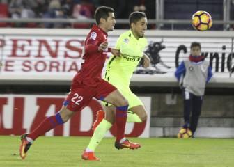 El Numancia se impone al Almería con un gol de Marc