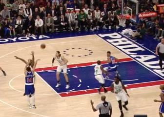 Recital de triples del Chacho ante los Boston Celtics