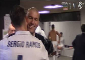 Así recibieron al héroe Ramos en el vestuario del Camp Nou