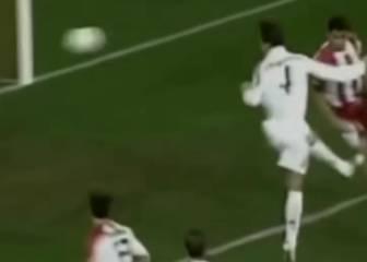 Así fue el primer gran testarazo de un joven Ramos en el Madrid