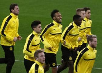 El Dortmund de Aubameyang entrenó en el Bernabéu