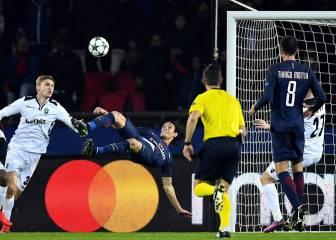 Cuatro años esperando para esto: gol de chilena de Cavani