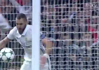 El gesto de rabia de Benzema al celebrar su primer gol