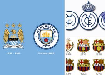 La evolución del escudo en los grandes equipos de Europa