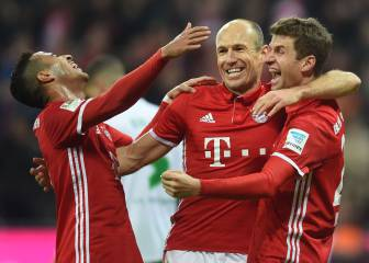 El Bayern destroza al Wolfsburgo y vuelve al liderato