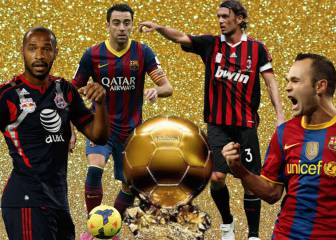 El once histórico que nunca ganó el Balón de Oro