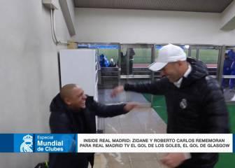 R. Carlos y Zidane recuerdan Glasgow a carcajada limpia