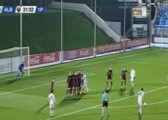 El gol de falta de Enzo Zidane: la astucia hecha lanzamiento