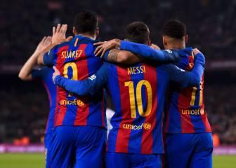 Messi, Suárez y Neymar bailan al Espanyol con fútbol de fantasía