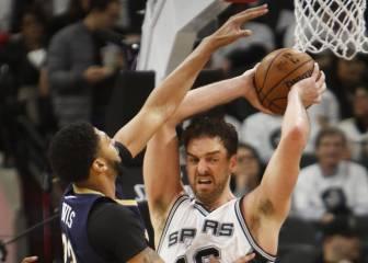 Pau Gasol luce músculo con 14 rebotes en el triunfo Spurs