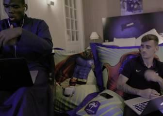 Pogba y Griezmann rapeando en modo freestyle: asombra