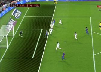 Llegó el primer gol oficial de Alcácer... ¡en fuera de juego!