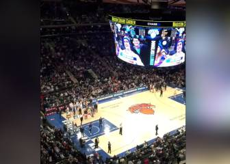 Huge cheer at Madison Square Garden for Antoine Griezmann