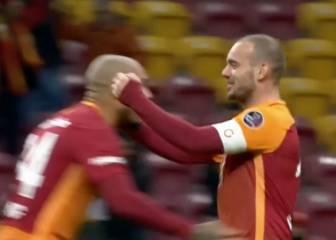 Sneijder reparte por Navidad...¡tres asistencias y un gol!