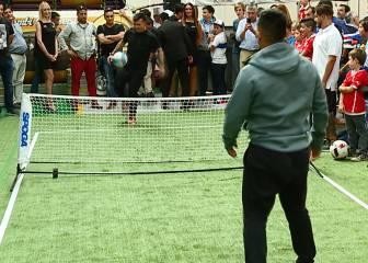 El tremendo punto de 'fútbol-tenis' de Gary y Kevin Medel