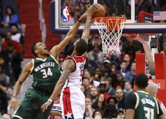 Antetokounmpo sostiene el triunfo de los Bucks ante los Wizards