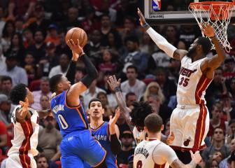 Westbrook no para y guía el triunfo de los Thunder con Abrines