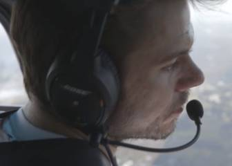 ¡Qué crack Wawrinka!: así fue su paseo en helicóptero