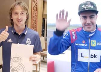 ¿Qué regalos intercambiaron Modric y Fernando Alonso?