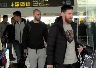 Messi, Neymar y Luis Suárez ya están en Barcelona