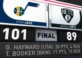 Resumen del Brooklyn Nets - Utah Jazz de la NBA