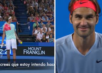 Le gritan desde la grada a Zverev, contesta y Federer flipa