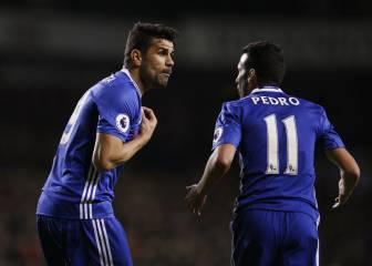 Conte y la discusión de Pedro y Diego Costa: